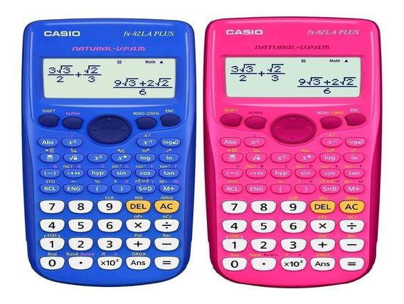 Calculadora Cientifca Casio Fx-82la Plus Azul O Rosa
