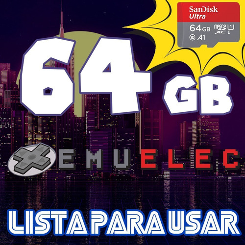 Micro Sd Emuelec 64g P/ Tv Box Rom Consola Retro 14000juegos
