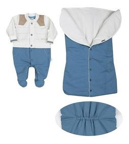 Saida Maternidade Paraiso Bebê Menino Plush Molecoton 7953