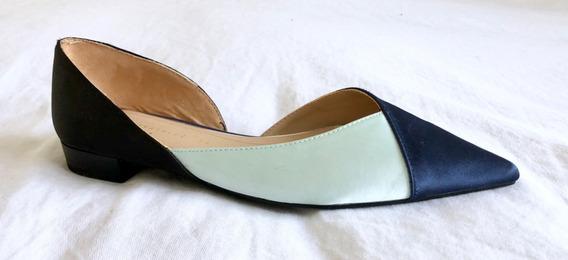 Zapatos Chatas De Raso Zara