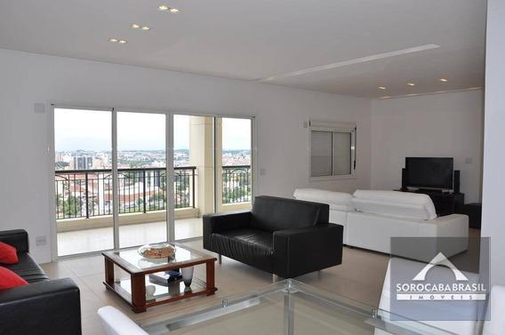 Apartamento Com 3 Dormitórios À Venda, 196 M² Por R$ 1.460.000 - Condomínio Único Campolim - Sorocaba/sp, Próximo A Padaria Real E Do Colégio Uirapuru - Ap0413
