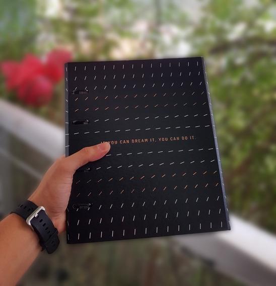 Caderno Argolado Fichário Ótima Noir - Original 12x