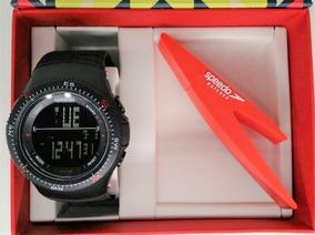 Kit Relógio Speedo Preto 81087 G0egnp1 -brinde Pen Drive