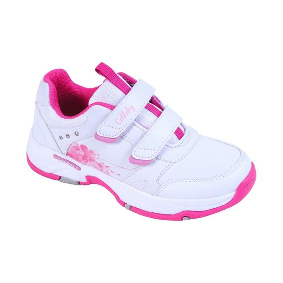 Zapatilla Sport Blanco Velcro Girl Colloky