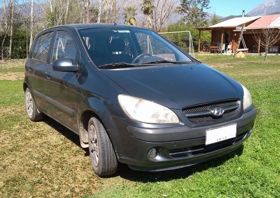 Hyundai Getz 1.4 2007, 5 Puertas, Gris Grafito, Aire Acond.