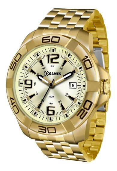 Relógio X-games Masculino Xmgs1023 C2kx Dourado Aço Analog