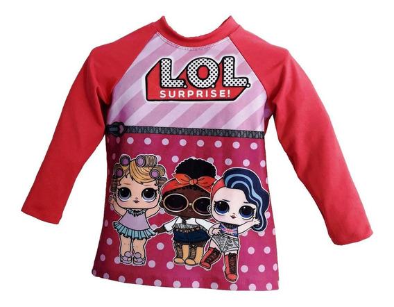 Blusa Manga Longa Infantil Camiseta Menina Criança Personagens