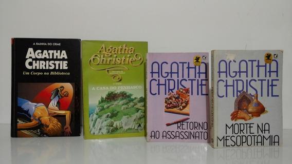 Agatha Christie Lote 4 Livros Em Edições Raras Antigas