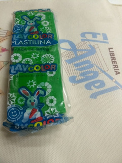 Plastilina Playcolor X 200 Grs Color Verde