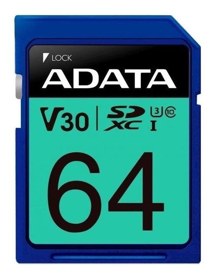 Tarjeta de memoria Adata ASDX64GUI3V30S-R Premier Pro 64GB