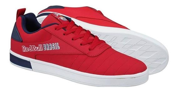 Tênis Red White Salzburg Vermelho Couro Sintético Red Bull