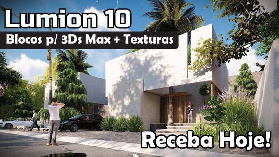 Lumion 10 Pro +300gb Texturas + 100 Gb Blocos - Receba Hoje!