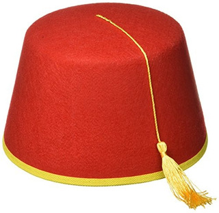 Novedades Del Foro Red Fez Felt Hat Red / Gold