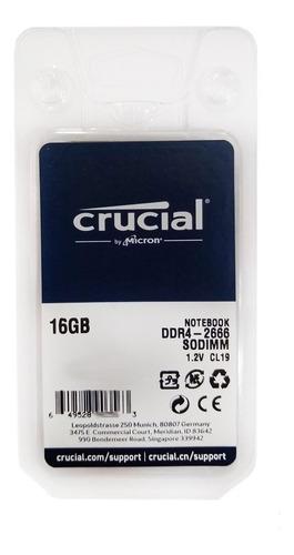 Imagem 1 de 2 de Memória 16gb Ddr4 P/ Notebook Pc2600 1,2 Volts ( 21300 ) M16