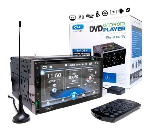 Central Multimídia Universal Android Tv Dvd Gps + Camera Ré