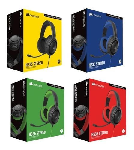 Audífono Gamer Corsair Hs35 Carbon Pc Ps4 Xbox One Switch