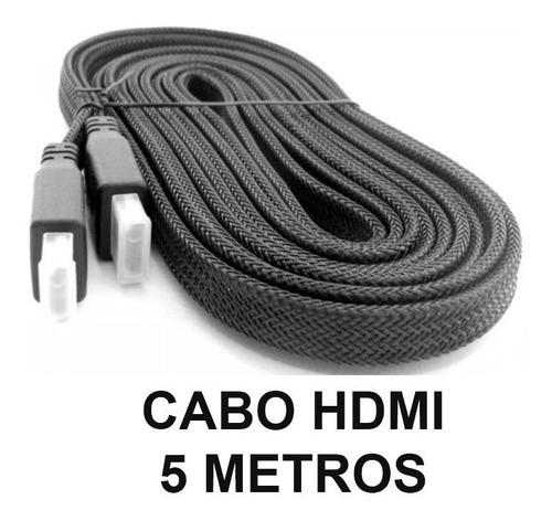 Imagem 1 de 1 de Cabo Hdmi Gold 2.0 5 Mts 4k 2.0 Full Hd 3d Tv Lcd Ps3 Xbox