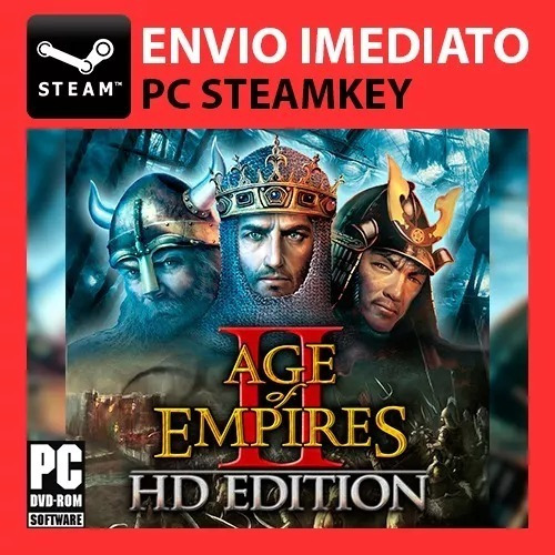 Age Of Empires 2 Hd Original Pt-br Multiplayer Steam Key Pc
