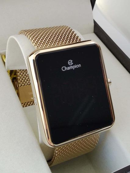 Relógio Champion Lançamento Digital Dourado Ch40080v La
