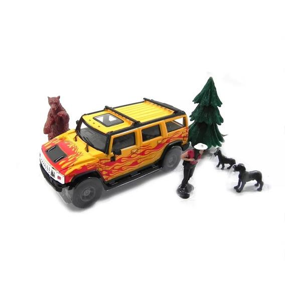 Diorama Miniatura Hummer Cararama Floresta Escala 1/43