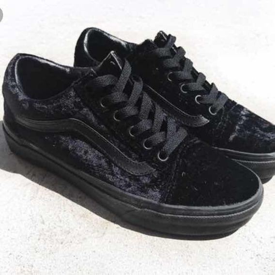 Tenis Vans Old Skool Velvet Black On Black