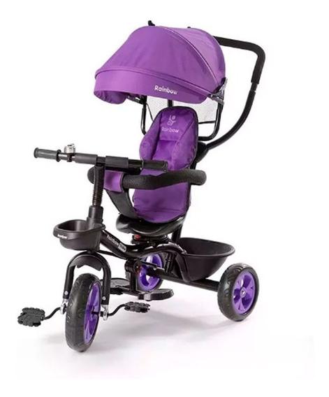 Triciclo Manija Direccional Gira 360º Violeta Safir 2013