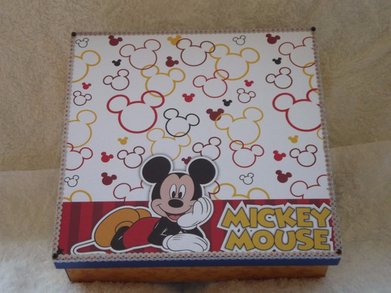 Caixa Mdf Decorada Mickey