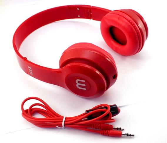 Fone Ouvido Headphone Stereo Mex Altomex Vermelho Celular Radio Notebook Desktop Peça De Mostruário A11270