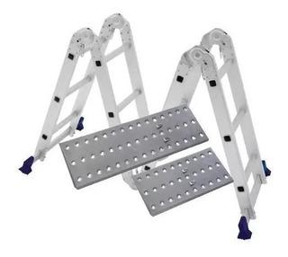 Escada Multifuncional 4x3 12 Degraus Com Plataforma Mor
