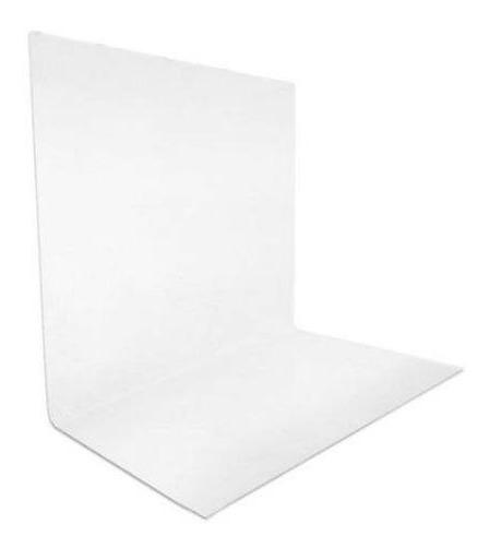 Tecido Fundo Infinito Branco + Preto Muslin 2,84 X 4,82 M