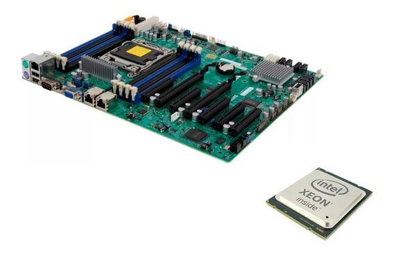 Kit Placa Mãe 2011 Supermicro + Proc. Xeon E5-2643 + 16gb