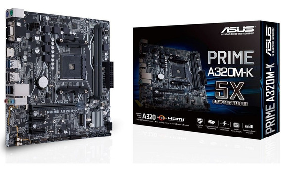 Mother Asus Prime A320m-k Am4 Ddr4 A320 Hdmi M2