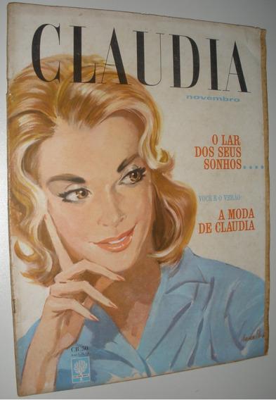 Revista Claudia Nº 2 Antiga Anos 60 Moda Propaganda Vintage