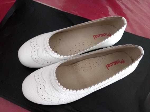 Hermosos Zapatos Blancos Chatitas De Nena Ideal Comunion