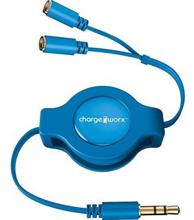 Cable Doble Para Auriculares Chargeworx Cx5514bl Azul