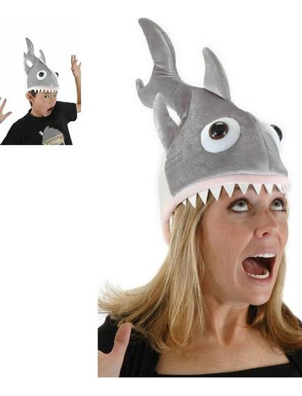 Sombrero Tiburón Elope Unisex Niños Adultos Carnaval Disfraz