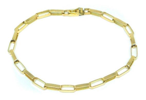 Pulseira Masculina Tijolinho Em Ouro 18kl 10 Gramas Maciça