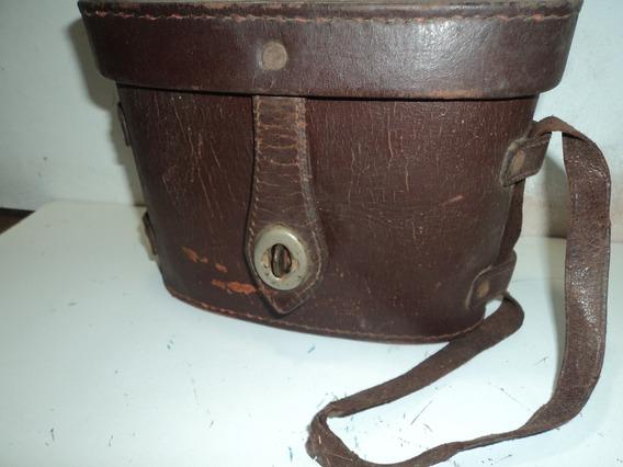 Bolsa Antiga De Couro /pra Binoculos ;etc; P/colecionador