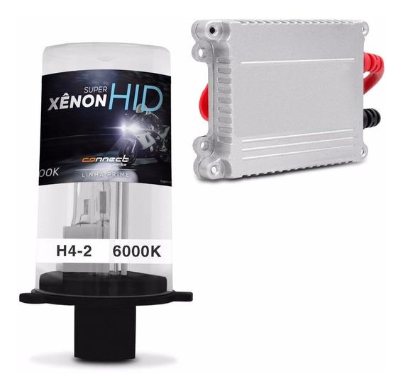 Kit Xenon Moto Completo H4-2 6000k Extremamente Branca