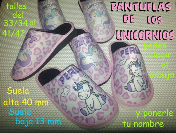 Pantuflas Unicornio $ 359 Cerradas Imborrables