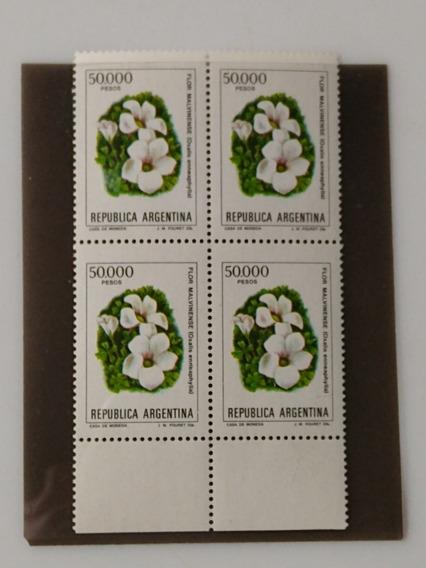 Estampilla Flor, Malvinense,ff-año 1982,gj-2037a
