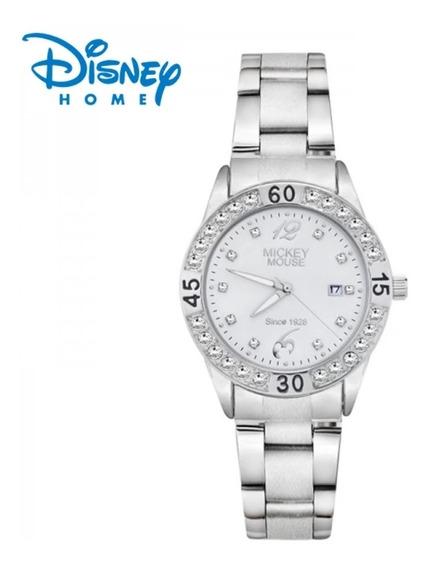 Relógio Disney Mickey Com Pulseira De Aço Original !