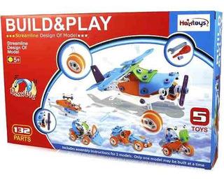 Haktoys Build-n-play 5-en-1 Construction Engineering Vehi!