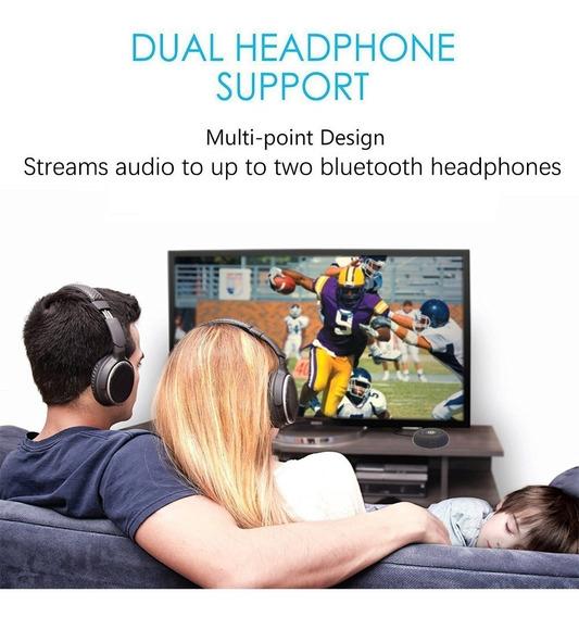 Transmissor Bluetooth Multi-ponto P2 Tv Até 2 Fones Cd-01