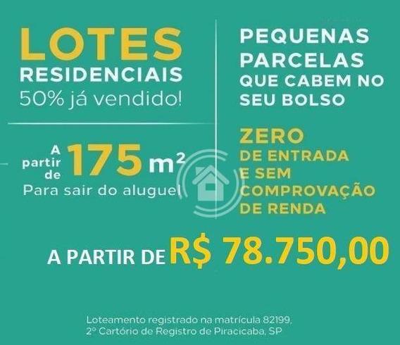 Terreno À Venda, 175 M² Por R$ 78.750,00 - Jardim Nossa Senhora Aparecida - Saltinho/sp - Te0271