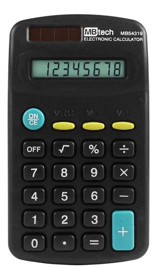 Calculadora Portátil De Bolso Atacado Kit 50 Un + 50pilhas
