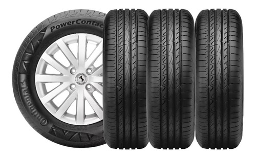 Kit X4 Neumaticos 195/65r15 Continental Power Contact 2 Fs6