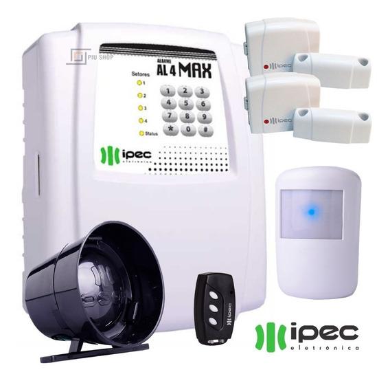 Kit Alarme Residencial Com Discadora +3 Sensores +1 Sirene