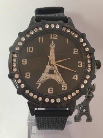Relógio Feminino Páris Preto Em Promoção