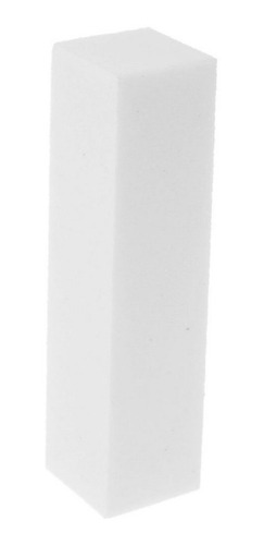 Bloque Pulido Uñas Esculpidas Acrilicas Gelificadas Blanco